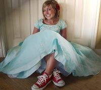 He and i- Cinderella prom dress and red Converse | Dances ...