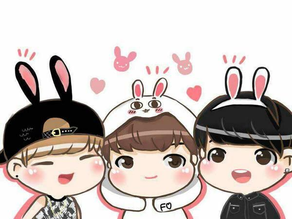 Yoonmin Cute Pictures For Wallpapers Bangtanzone On Bts Cartoon And Vs