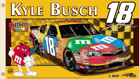 Dale Earnhardt Jr Car Wallpaper Kyle Busch Kyle Nation Giant 3 X5 Nascar Flag 18 M Amp M S