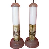 1930's Art Deco Skyscraper Set of 2 Table Lamps-All-Lite ...