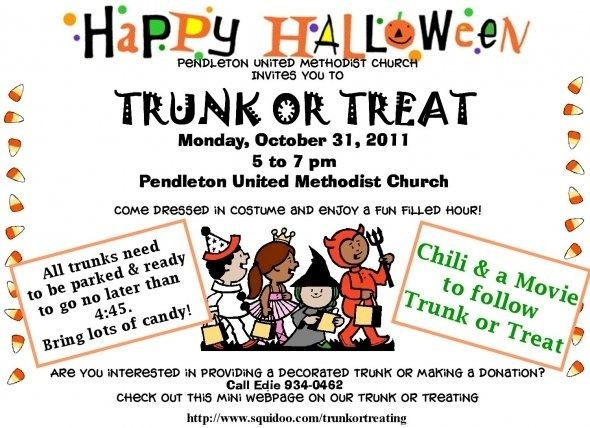 trunk or treat flyer examples