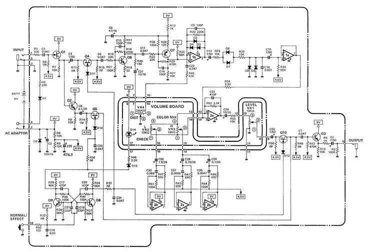tube distortion pedal schematic design