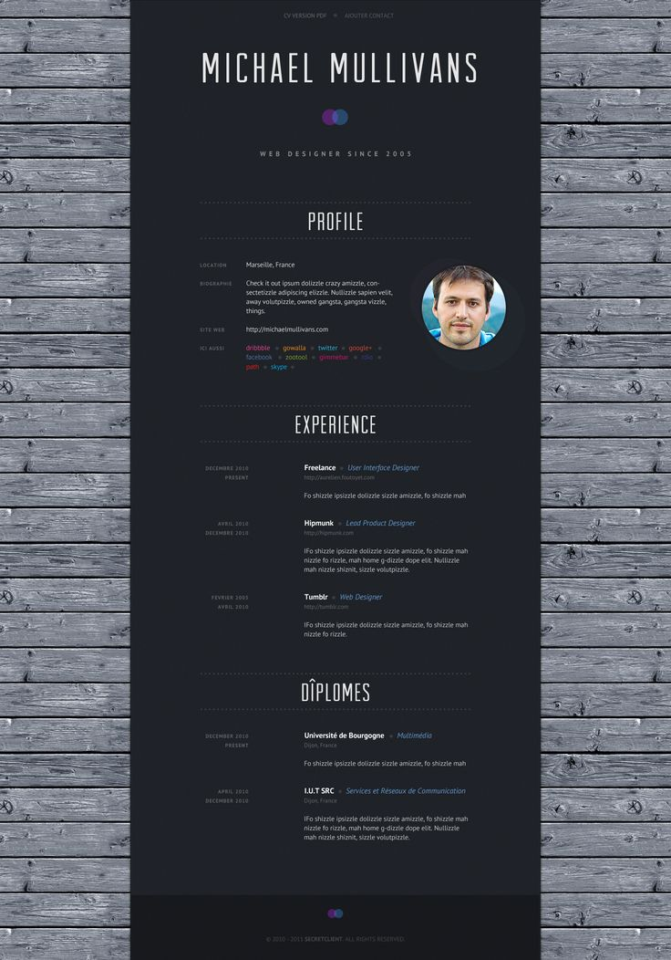 cv design ideas pinterest