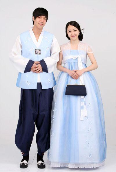 Blue Hanbok | ... ,wedding hanbok,traditional korean dress ...