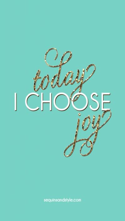 Emerald glitter Today I Choose Joy iphone phone wallpaper background lock screen | Law of ...