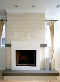 Modern fireplace tile | oh my word | Pinterest | Fireplace ...