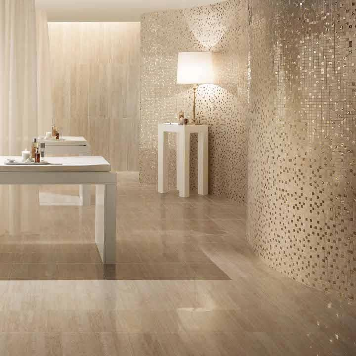 Best Bathroom Mirror Natural Looking Porcelain Tiles Combined With Shimmering