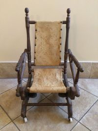 Antique 1800's Child's Platform Rocker Rocking Chair ...