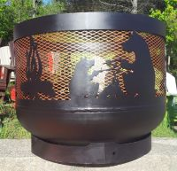 "Wood burning Muskoka Fire Pit. 30"" diameter, made out of ..."
