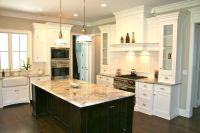 Love the white cabinets & dark island | Kitchens ...