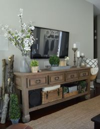 Best 25+ Tv console decorating ideas on Pinterest | Tv ...