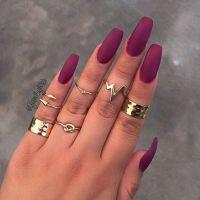 25+ gorgeous Burgundy matte nails ideas on Pinterest ...
