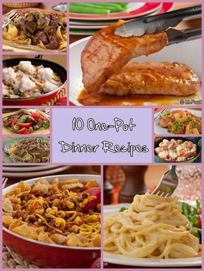 10 One-Pot Dinner Recipes - Make your weeknight dinner menu a breeze with these classic (and ...