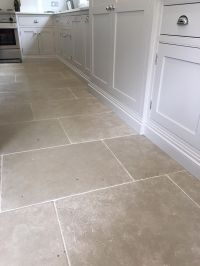 Paris Grey limestone tiles for a durable kitchen floor ...