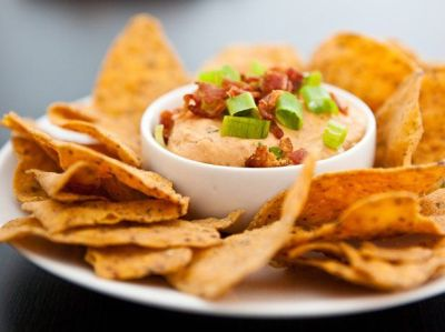 Creamy BBQ Bacon Cheese Dip | Recipe | Bacon, Dr. oz and Chip dips