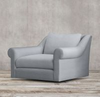 Belgian Roll Arm Upholstered Swivel Chair   RESTORATION ...