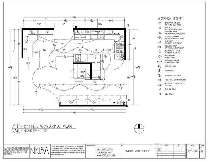 electrical plan kitchen