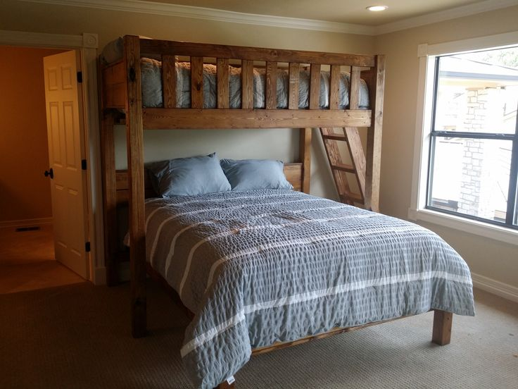 Twin Over Queen Bunk Bed 25+ Best Ideas About Queen Bunk Beds On Pinterest | Bunk