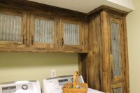 Rustic Upper Cabinet - Reclaimed Barn Wood w/Tin Doors ...