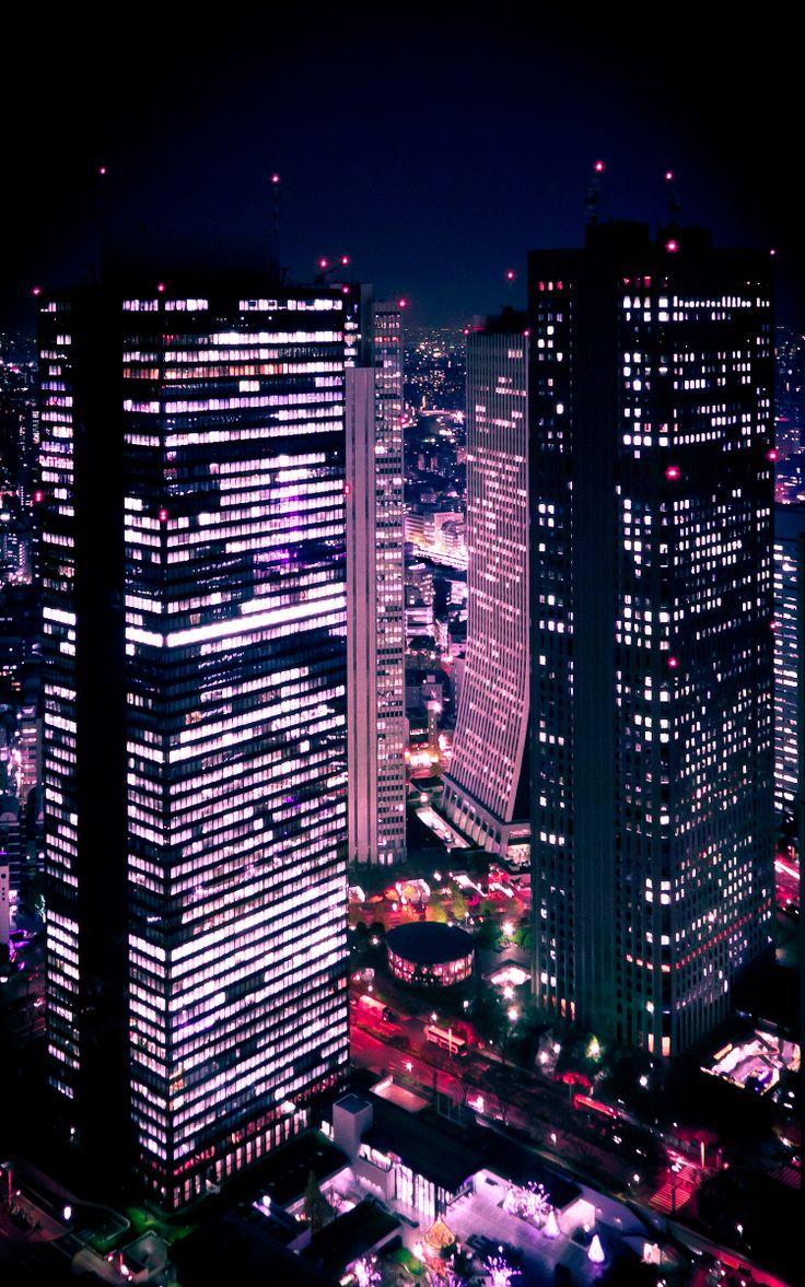 Iphone 5 Wallpaper Gossip Girl Shinjuku At Night View From The Tokyo Metropolitan