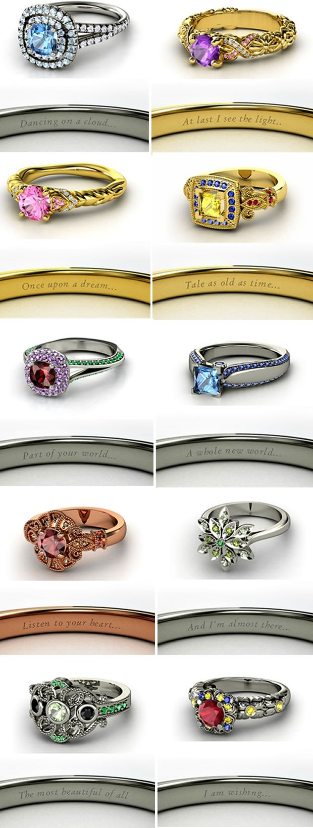 disney inspired engagement rings and wedding rings disney princess wedding rings disney princess engagement rings sleeping beauty source heckyeahdisneymerch tumblr com