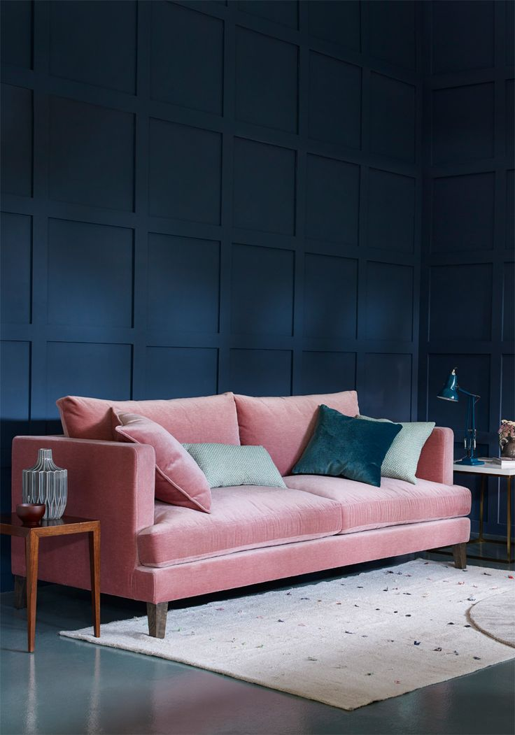 Mørkeblå Sofa 1000+ Ideas About Velour Sofa On Pinterest | Living Spaces, Vintage Sideboard And Residential
