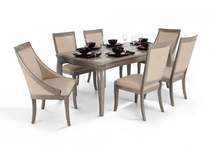 Gatsby 7 Piece Dining Set With Side Chairs Swoop Chairs