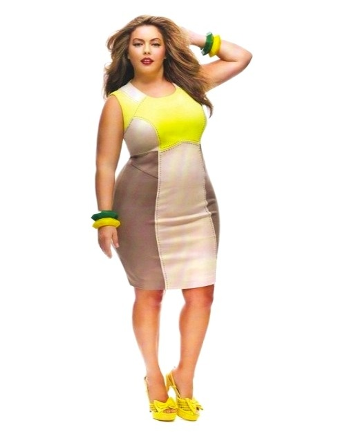 Neon Colored Plus Size Clothing Neon Yellow Dress Color Block Womens Plus Size Fashion