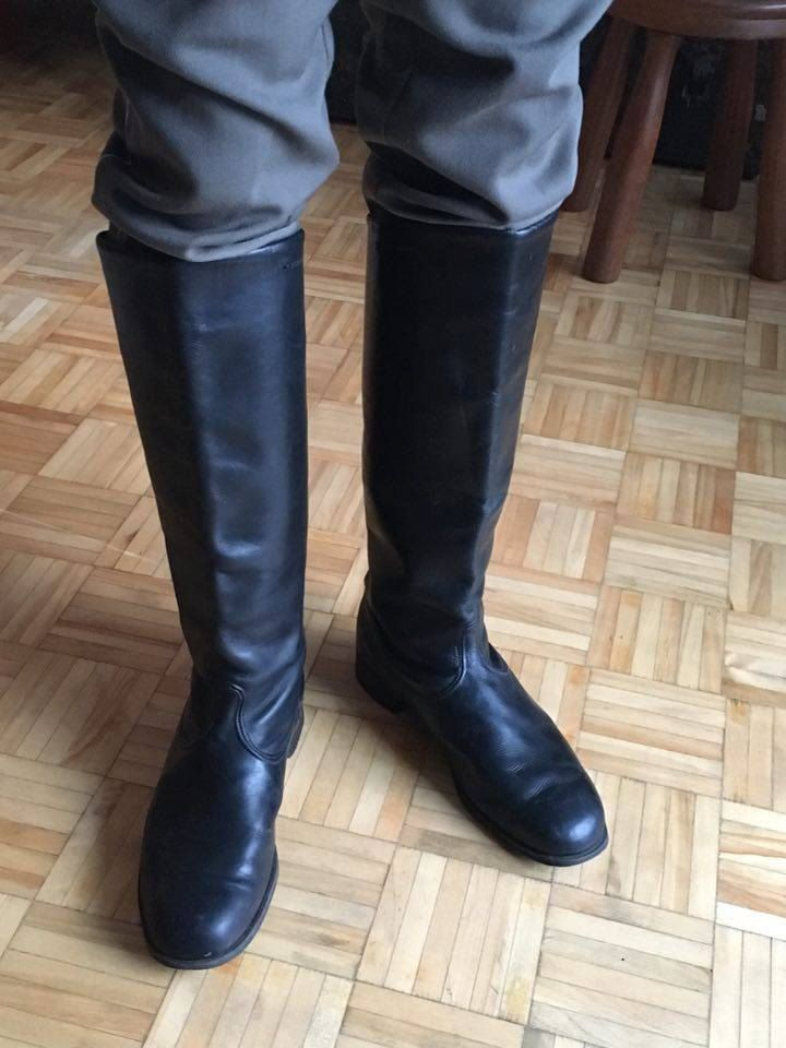 Black Russian Riding Boots Size 10 Army Military