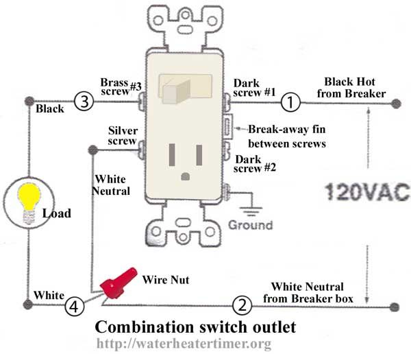 how to wire light switch from outlet