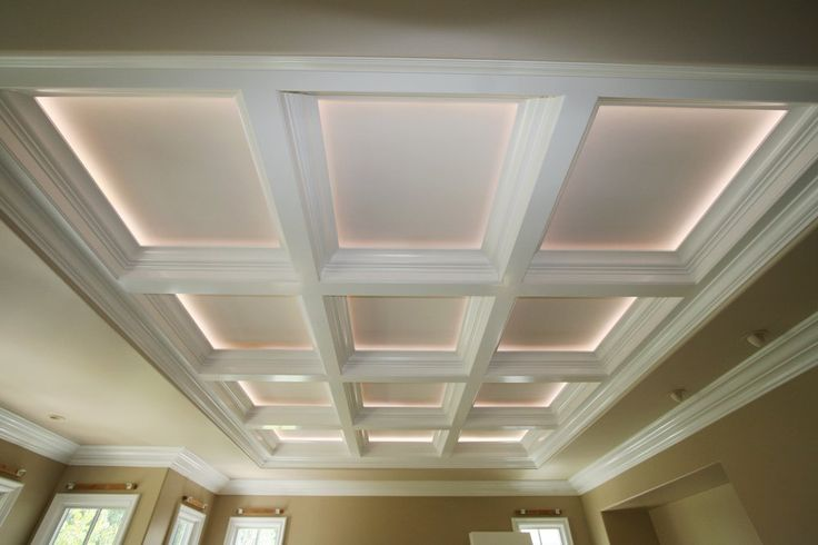 Correctly lighting a coffered ceiling will make the room