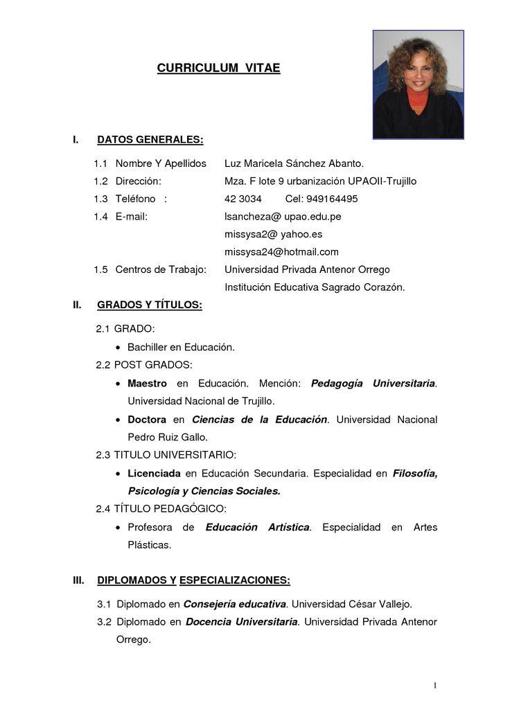 free samples of curriculum vitae