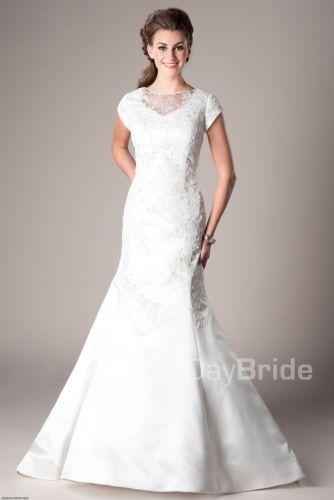 vestidos de novia lds wedding dresses Mermaid Fit Flare Wedding Amesbury This is my wedding dress