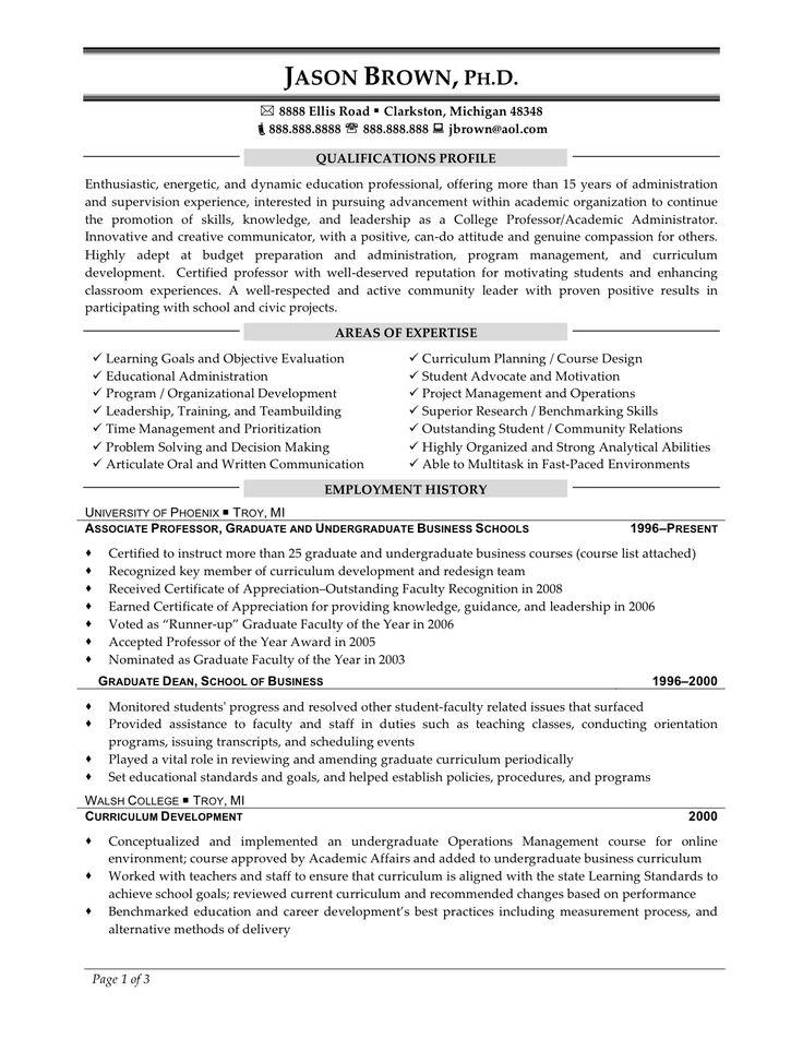phd resume template doc