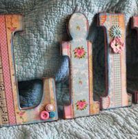 Wooden Alphabet Letters Lillian Shabby Chic Vintage Wall ...