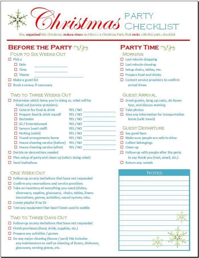 Christmas Checklist Template - Contegri - christmas checklist template