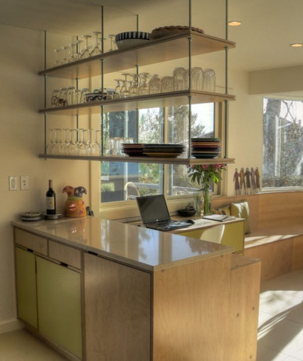 Open Kitchen Shelves Using Our Collector S Shelving System With Kitchen-island-ceiling-shelving | Home | Pinterest