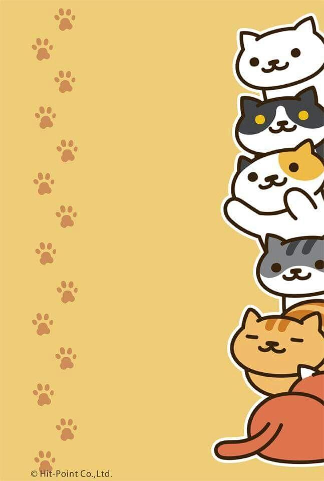 Pusheen Iphone Wallpaper Cute Neko Atsume Cute Animals Pinterest Wallpapers