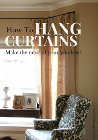 1000+ ideas about Hang Curtains on Pinterest | Old benches ...