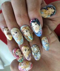 Disney(Frozen) : Character nail art | Kawaii Nails ...