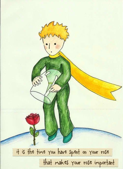 Le Petit Prince Quote Wallpaper The Time You Have Spent On Your Rose Love Matters