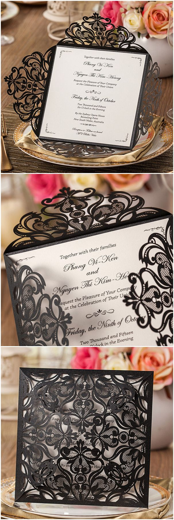 Michaels crafts wedding invitations - Wedding Invitations Michaels Craft Store Wedding Invitations Michaels Craft Store Elegant Black Laser Cut Pocket