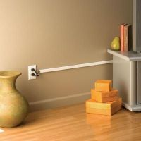 Cord Cover for the wall TV: Legrand/Wiremold Cordmate II ...