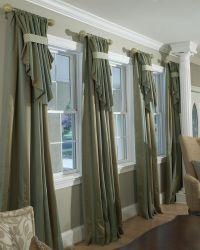 Custom drapery | Parda | Pinterest | Curtain rods, Large ...