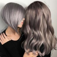 Metallic Silver Hair Color To Turquoise Hair Color Melt By ...