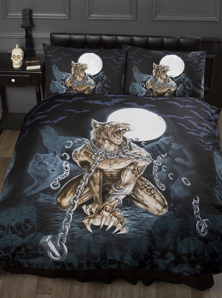 Brown Duvet Cover Single Bed Loups Garou, Alchemy Gothic Duvet / Quilt Cover