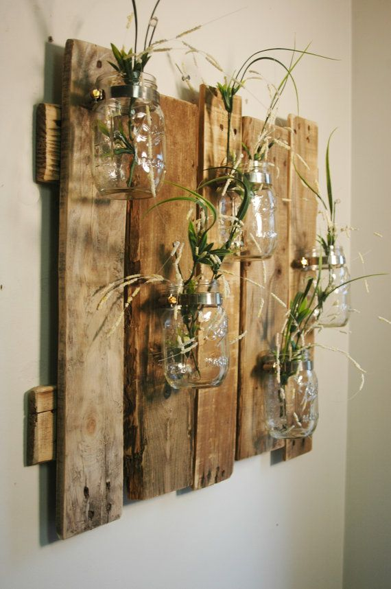 Wand Aus Glas Unique Large Wall Piece With Clear Mason Jars Wall Decor