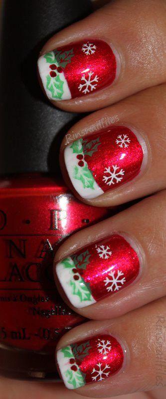 Best 25 Christmas Manicure Ideas On Pinterest