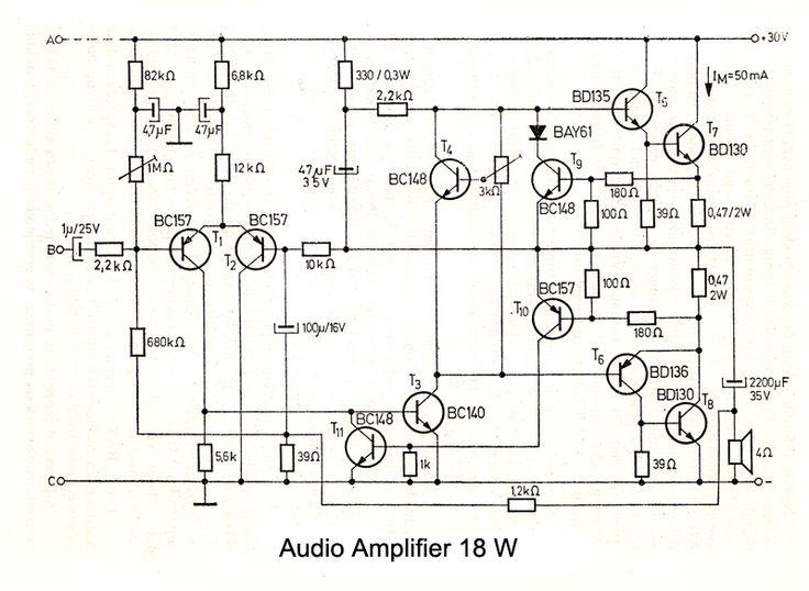 mini audio amplifier circuit electronic circuits and diagram
