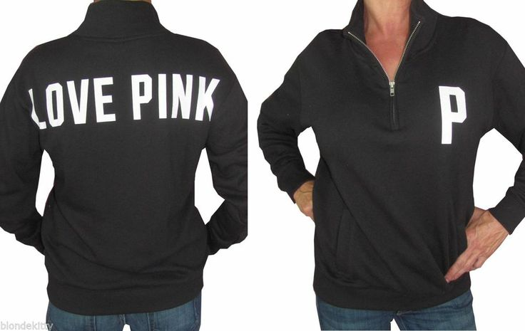 Pullover Hoodie Vs Zip Up Victoria Secret Love Pink Half Zip Pullover Sweatshirt